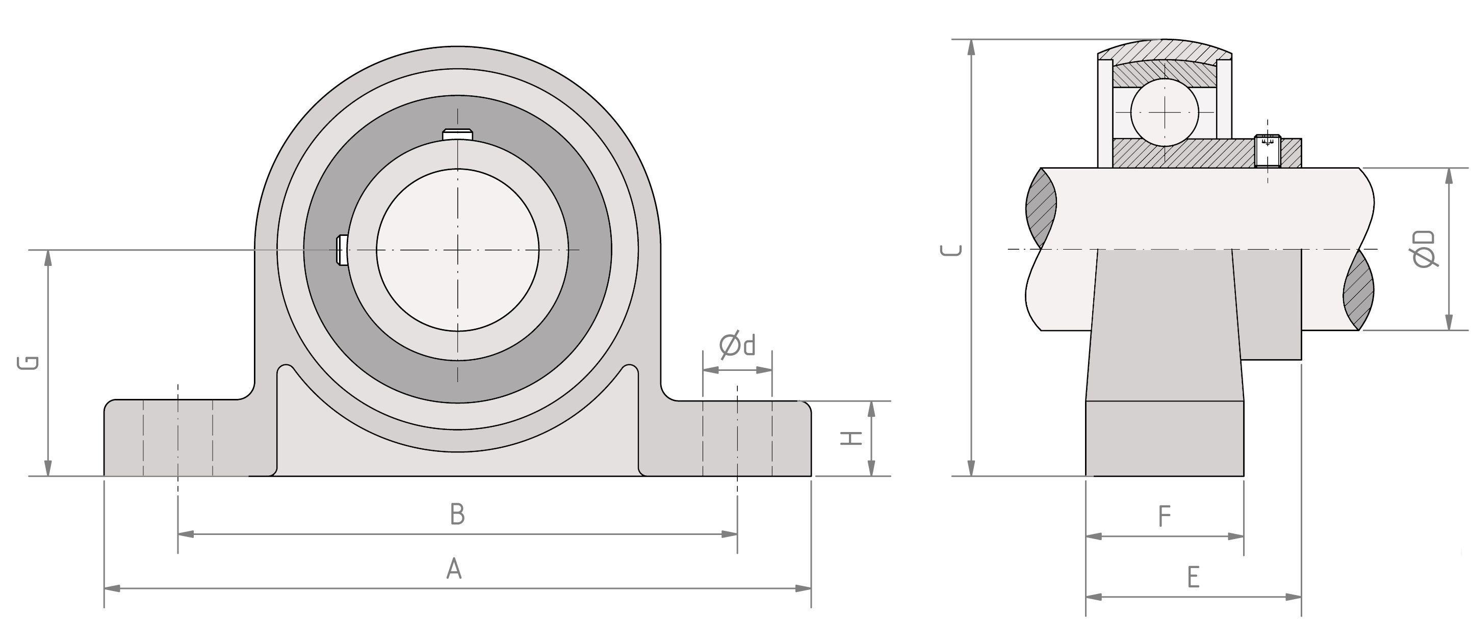 8mm Gehäuselager KP000,bearing,pillow Stehlager 10mm KP08 selbstausrichtend